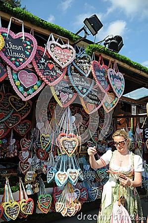Free Gingerbread Hearts Oktoberfest 2011 Stock Photos - 21268873