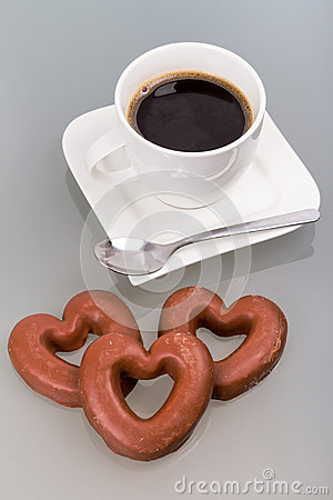 Gingerbread hearts to the coffee