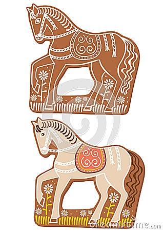 Gingerbread horses