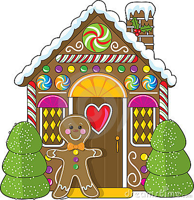 Free Gingerbread House And Man Royalty Free Stock Photos - 5750028