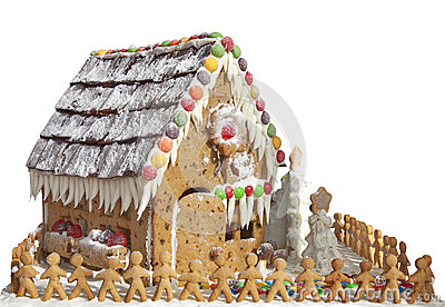 Gingerbread House with Gingerbread Men