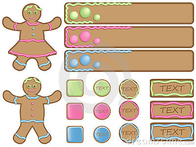 Gingerbread icons and banners