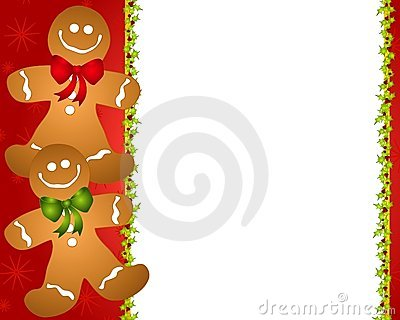 Gingerbread Man Border 2