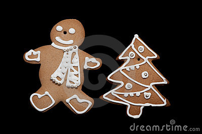 Gingerbread man and christmass tree