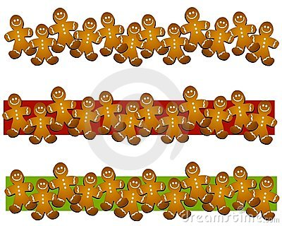 Gingerbread Man Cookie Borders