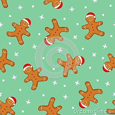 Cute gingerbread man cartoon