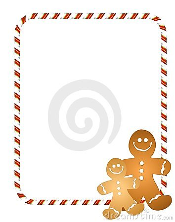 Gingerbread Men Border