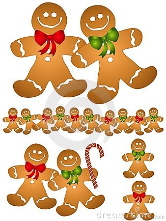 Gingerbread Men Clip Art