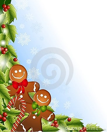 Free Gingerbread Men Holly Stock Photo - 7049680