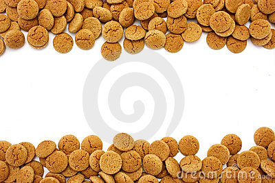 Gingerbread nuts with copyspac