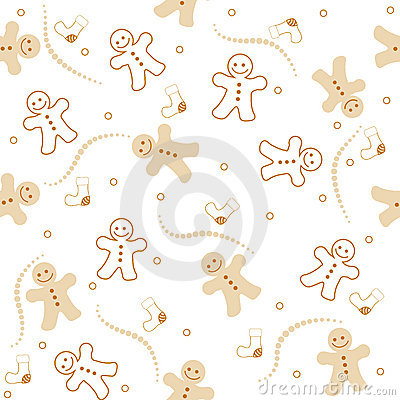 Free Gingerbread Seamless Pattern Christmas Stock Photos - 21099643