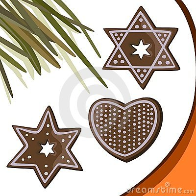 Gingerbread stars, heart