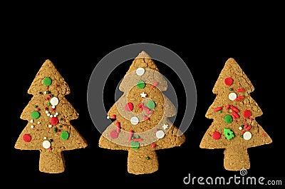 Gingerbread tree cookies