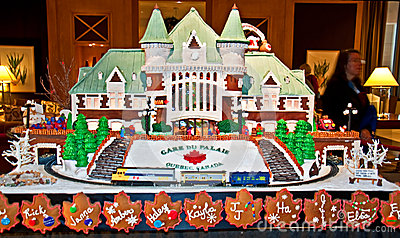 Gingerbread Village Gare du Palais Que Editorial Photo