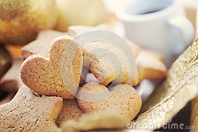 Gingerbreads with coffee