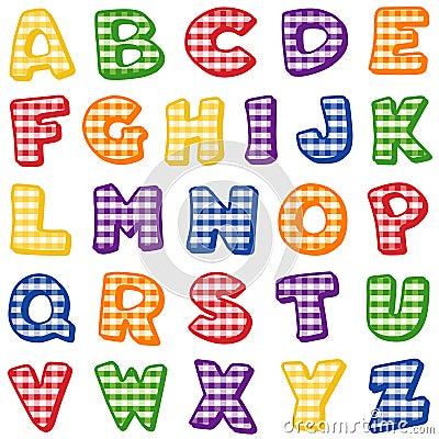 Gingham Alphabet