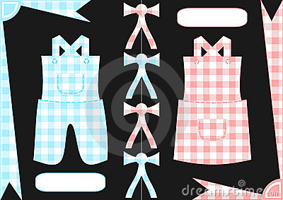 Gingham boy and girl clothings