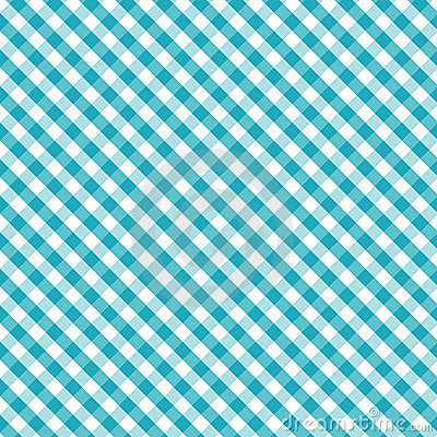 Gingham Cross Weave, Aqua, Seamless Background