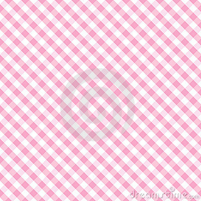 Free Gingham Cross Weave, Baby Pink Seamless Stock Images - 7066544