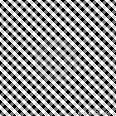 Gingham Cross Weave, Black, Seamless Background