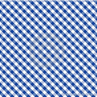Gingham Cross Weave, Blue, Seamless Background