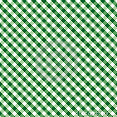 Gingham Cross Weave, Green, Seamless Background