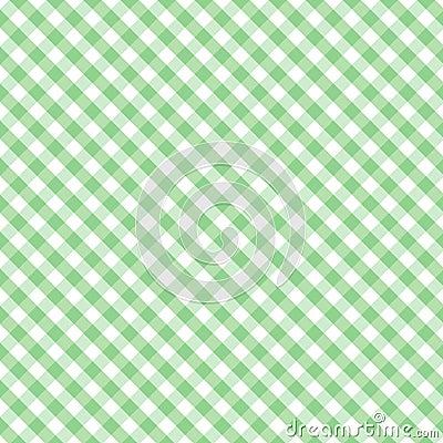 Gingham Cross Weave, Pastel Green Seamless