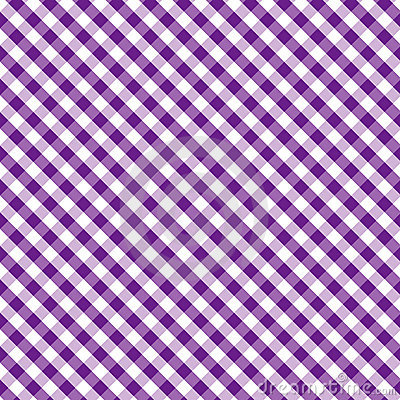 Gingham Cross Weave, Purple, Seamless Background