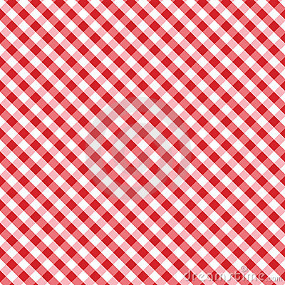 Gingham Cross Weave, Red, Seamless Background