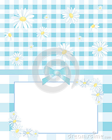 Gingham and daisies