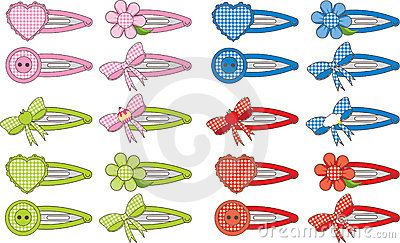 Gingham Fashion Hair Clips