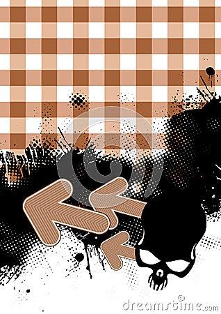 Gingham Grunge Background