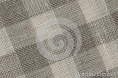 Gingham Linen Canvas backround - Stock Photos