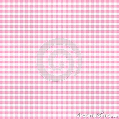 Gingham pastel pink seamless