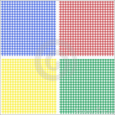 Gingham red blue green yellow