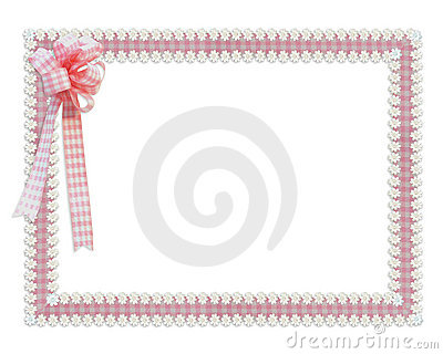 Gingham ribbons border