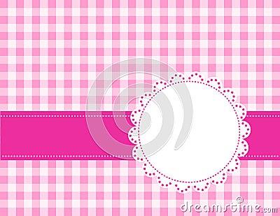 Gingham różowy tło