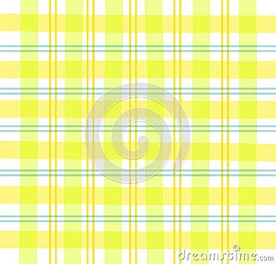 Gingham szkockiej kraty żółty