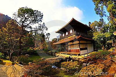Ginkaku-ji (Temple of Silver Pavilion) in Japan