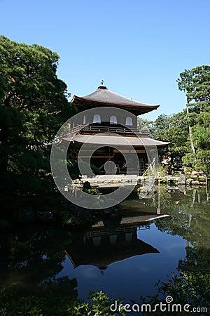 Ginkakuji Silver pavilion in Kyoto, Japan