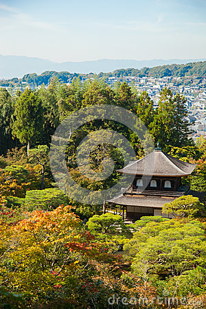 Ginkakuji (Silver Pavilion) is a Zen temple along Kyoto s easter