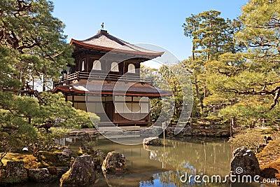 Ginkakuji temple in Kyoto, japan