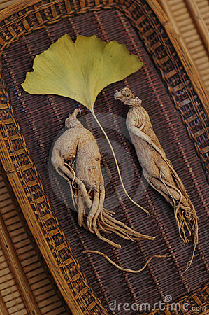 Free Ginseng And Ginkgo Stock Image - 419031