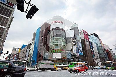 Ginza, Tokyo, Japan Editorial Image