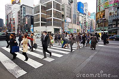 Ginza, tokyo japan Editorial Stock Image