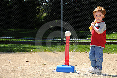 Giocatore del T-ball fino al blocco