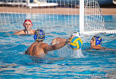 Giocatori di Waterpolo Fotografia Stock Editoriale