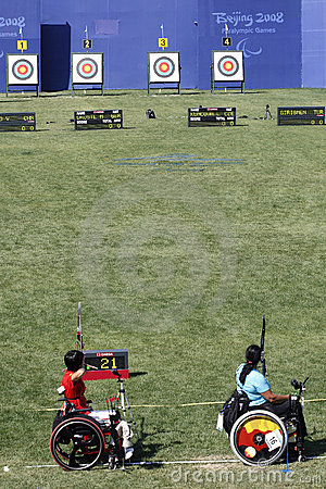 Gioco 2008 di Pechino Paralympic Fotografia Editoriale