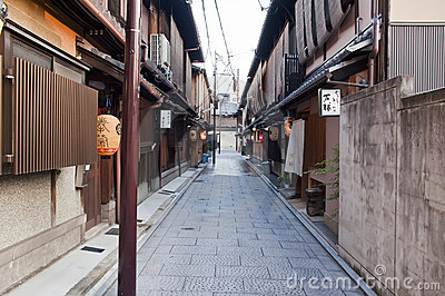Gion district,Japan Editorial Stock Photo