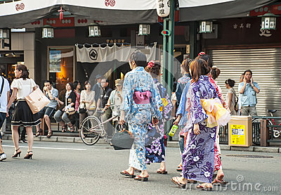 Gion district,Japan Editorial Image